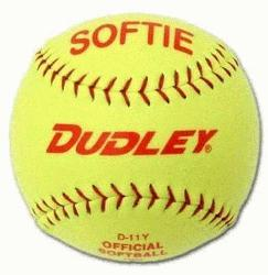 e D-12 Softie practice softball for slow pitch is composed