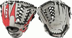 e Slugger 11.5 HD9 Hybrid Defense Red/Grey Baseball Glove</p>