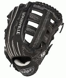 e Slugger Pro Flare Black 12.75 in Baseball Glove (
