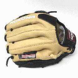 dult Glove made of American Bison and Supersoft Steerhide leather combi