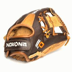 he Alpha Select youth performance series gloves from Nokona are made with top-of-the-li
