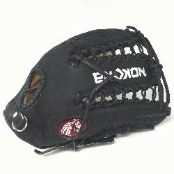 t Glove made of American Bison and Supersoft Steerhide leather combined in black and cream