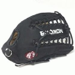 ung Adult Glove made of American Bison and Supersoft Steerhide leather combined in black and c
