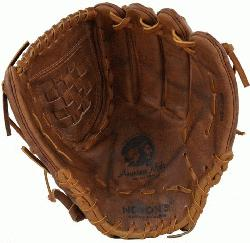a Softball glove for female fastpitch softball players. Buckaroo leather for game re