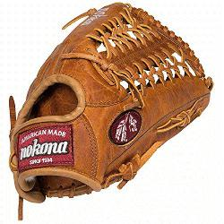 ton Series 12.75 inch Outfield Baseball Glove. Modified Trap Web. Generation Steerhide has a tra