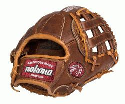 lnut Baseball Glove 12 inch (Right Hand Throw) : Nokona has bui