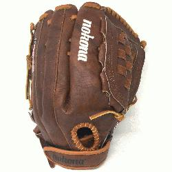 by Nokonas history of hancrafting ball gloves in America for over 80 y