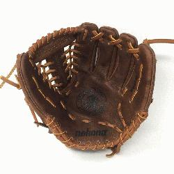 B-1150M Baseball Glove 11.5 Modified Trap Right Handed Throw Walnut HHH Leather whi