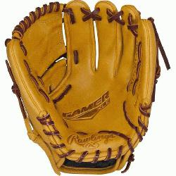 style to your game with the Gamer XLE ball glove With bold-brightly colored leathe