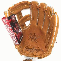 e Rawlings PROSPT Heart of the Hide Baseball Glove is 11.75 inch. Made with Horween C55 tanned Hear