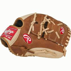 Heart of the Hide baseball glove features a conventional back and the Two Piece Solid Web, which