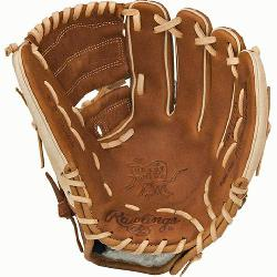 t of the Hide baseball glove features a conventional b