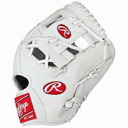 Heart of the Hide White Baseball Glove 11.5 inch PRO202WW (Righ