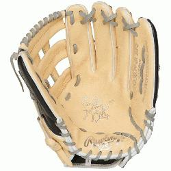 """t of the Hide 12.75"""" baseball glove features a the PRO H Web pattern"""