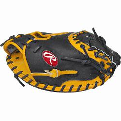 of the Hide players series Catcher Mitt from Rawlings features t