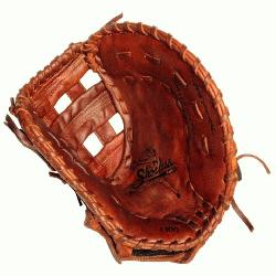 omens First Base Model Single Bar Web Antique Tobacco Tanned Steerhide