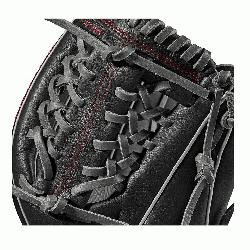 on A1000 glove is made with a Pro laced T-Web and comes in left- and r