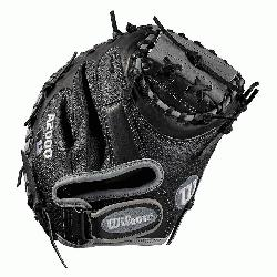 Catchers model; half moon web; extended palm Velcro wrist strap for comfort and contr