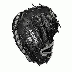 Catchers model; half moon web; extended palm Velcro wrist s