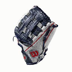 12 infield glove Dual post web Grey SuperSkin, tw