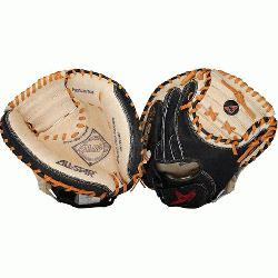 is designed as an entry level catchers mitt but mimics the look of All-Stars high end youth