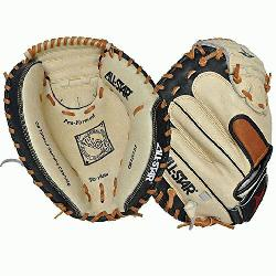 00SBT 33.5 Catchers Mitt BlackTan (Left Handed Throw) : Allstar catche