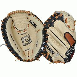 33.5 Catchers Mitt BlackTan (Right Handed Throw) : Allstar catchers mitt.