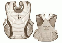 CPW13S7-White Scarlett All-Star VELA Professional Fastpitch 13 Chest Protector
