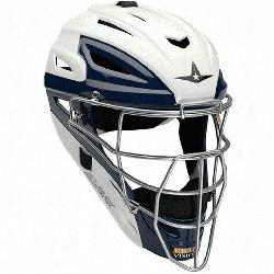 m 7 Two Tone Catchers Helmet MVP2500WTT 7 to 7 34 (White-Scar