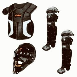 up with the youth Player Series baseball catchers package from
