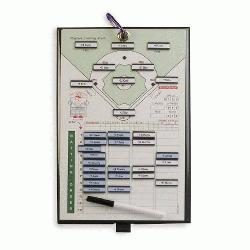 es Coacher Magnetic Baseball Line-Up Board : Athletic Specia