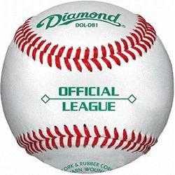 ver Cork Rubber Core Raised Seam Baseballs DOL-DB1 Official League. Official League