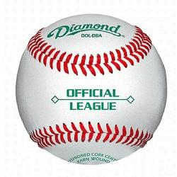 d Duracover Cushioned Cork Raised Seam Baseballs DOL-DBA Official League. 5 dozend base