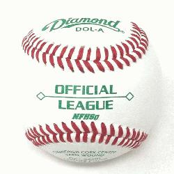t with 5 doz DOL-A Offical League Baseballs Shipped. Leather cover. Cushioned cork c