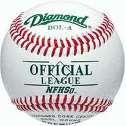 with 5 doz DOL-A Offical League Baseballs Shipped. Leather cover. Cushioned cork cente