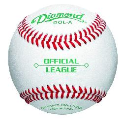 ond DOL-A Official Leaguel leather baseballs features durable full-grain leather cover,
