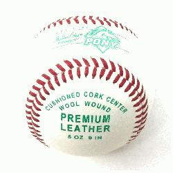 y League Cushioned Cork Center Baseballs