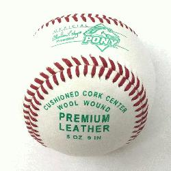 ony League Cushioned Cork Center Baseballs 1 Doz Tournament Grade : Diamond Pony Le