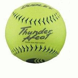 Classic M Thunder Heat 325lb 12 Yellow Softballs Cover Synthetic 1 Doz USSSA Softballs
