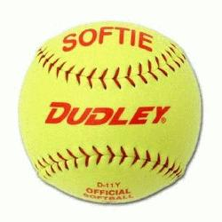 D-11 Softie slow pitch practice softball is composed of a high-impact cork cent