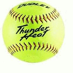 dley Thunder Heat 12 ASA Fastpitch Softballs Composite Cover COR 47 Compre