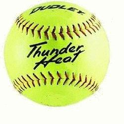 Thunder Heat 12 ASA Fastpitch Softballs Composite Cover COR 47 Compression 375lbs 1 Doz