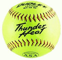 eat 12 ASA Fastpitch Softballs Leather Cover COR 47 C