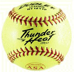 der Heat Dual Stamp ASA-NFHS Fastpitch Softballs