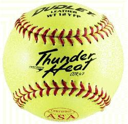 Thunder Heat Dual Stamp ASA-NFHS Fastpitch Softballs 47 Cor (1