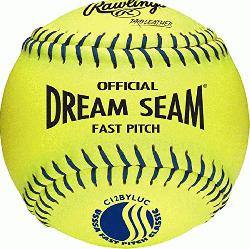 12 Inch Fastpitch USSSA Softballs (1 dozen) : Leather cover is highly durable and provides grea