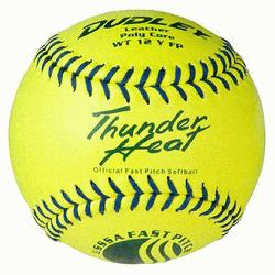 12 Inch Fastpitch USSSA Softballs (1 dozen) : Leather cover is highly durable and provid