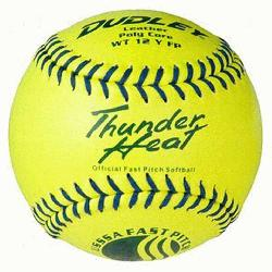 ch Fastpitch USSSA Softballs (1 dozen) : Leather cover is highly durable and provides gre