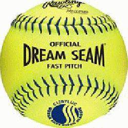 Dudley WT 12 Inch Fastpitch USSSA Softballs (1 dozen) : Leather cover is h
