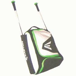 ston Bat Pack E200P Bag 20 x 13 x 9 (White-Neon Green) : Frontal access with inner s